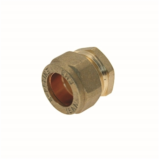 Compression Fitting DZR Stop End 15mm