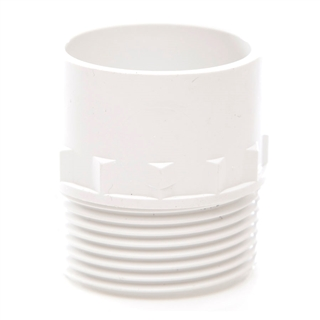 Polypipe Solvent Weld Waste 32mm Male Iron Adaptor White WS46