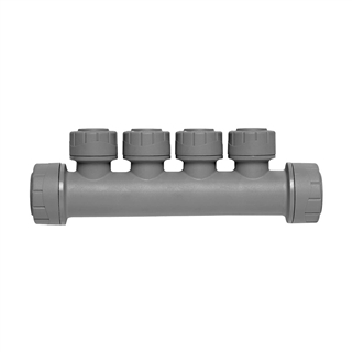 Polyplumb 22mm x 10mm 4 Port Single Sided Manifold PB7322104