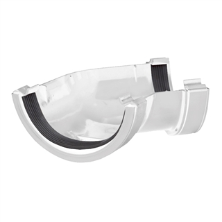 Polypipe Half Round Rainwater 112mm Gutter Angle 135° White RR104