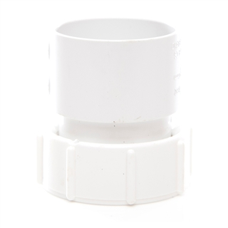 Polypipe Solvent Weld Waste 40mm Threaded Coupling FI BSP White WS32