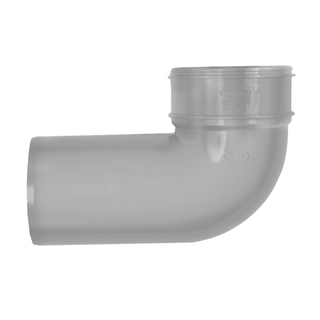 Polypipe Soil & Vent 110mm 90° Close Couple Bend Grey SWB47