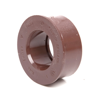 Polypipe Solvent Weld Waste 32mm Boss Adapter Solvent Brown SW80