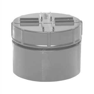 Polypipe Soil & Vent 110mm Solvent Socket Tail Access Cap Grey SA63