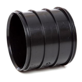 Polypipe Soil & Vent 110mm Pipe Coupler Solvent Socket Black SWH16