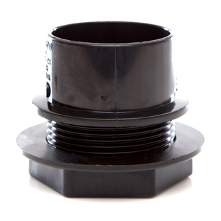 Polypipe Solvent Weld Waste 40mm Tank Connector Black WS36