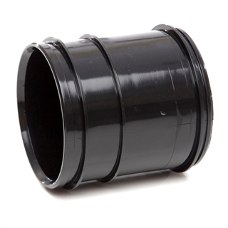 Polypipe Soil & Vent 82mm Solvent Socket Pipe Coupler Black SWH49