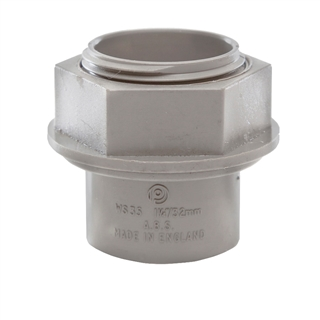 Polypipe Solvent Weld Waste 32mm Tank Connector Grey WS35