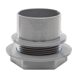 Polypipe Solvent Weld Waste 40mm Tank Connector Grey WS36