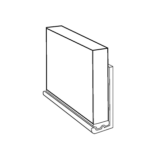 Wetwall Shower Panel Bottom Profile 2450mm Silver SAA