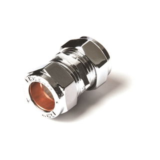 Compression Fitting Connector 15m Chrome
