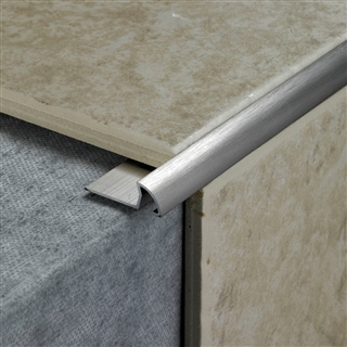 Tile Rite Rss379 10mm Round Stainless Steel Effect Tile Edging