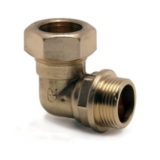 """Kuterlite Compression Fitting K616P 28mm x 1"""" Bent Male Coupling"""