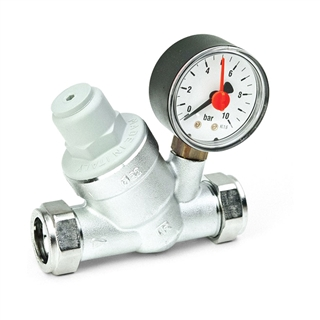 Inta Pressure Reducing Valve with Gauge and Filter 22mm PRV22332210