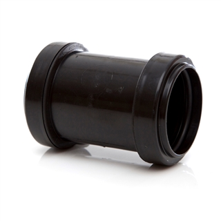 Polypipe Push-Fit Waste 50mm Straight Coupling Black WP58