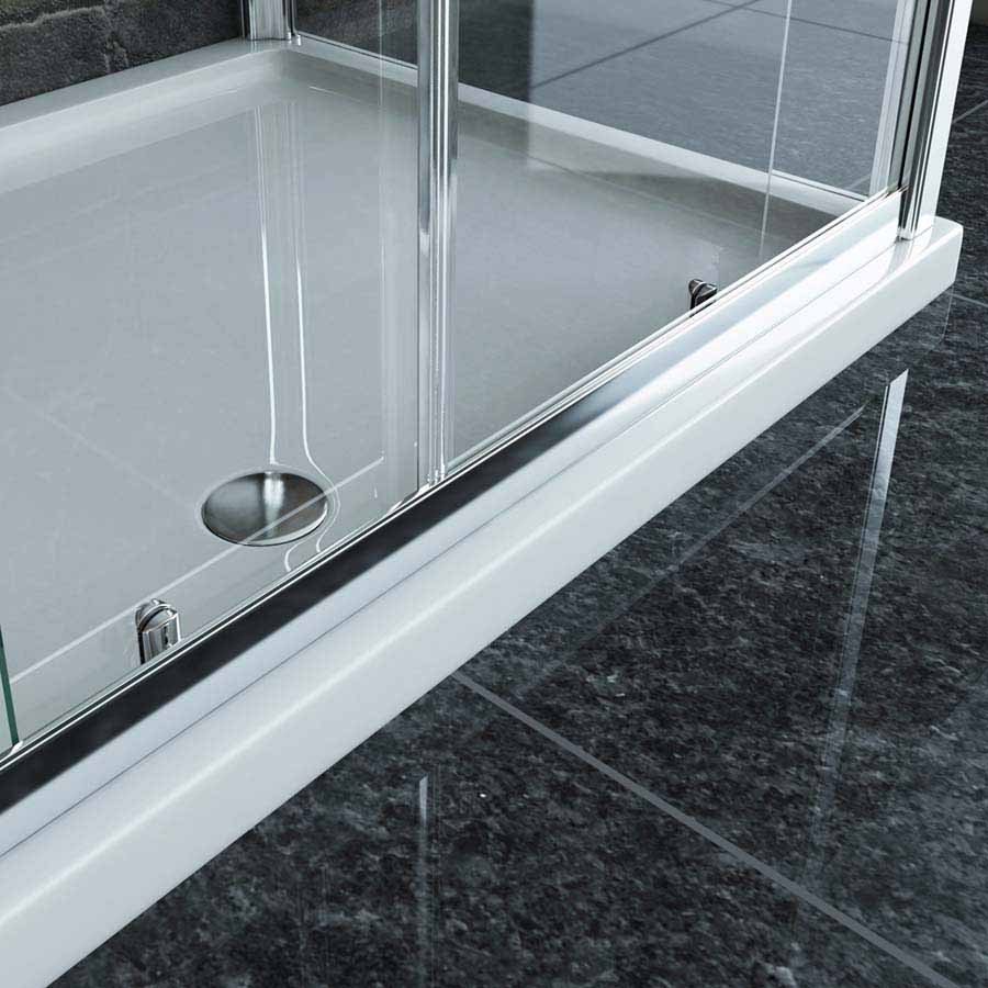 Low Profile ABS Acrylic Capped Rectangular Shower Tray 800mm x 700mm