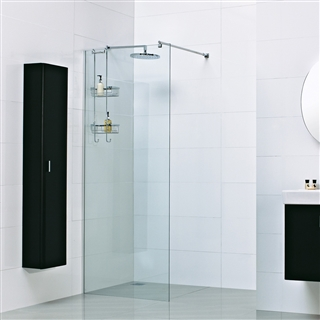 8mm Wetroom Glass Panel with Exposed Profile 1000mm x 2000mm