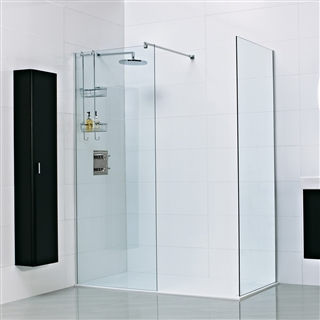 8mm Wetroom Glass Panel with Exposed Profile 1200mm x 2000mm