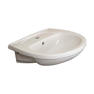 Trade 550mm Semi Recessed Basin (1 Taphole) IBA004
