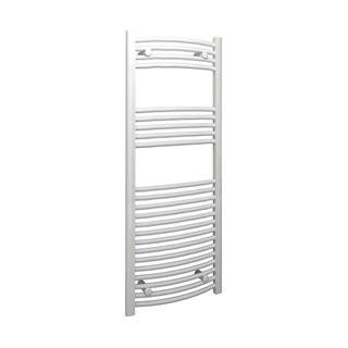 Curved Towel Rail 500mm x 1200mm White 22mm Bar