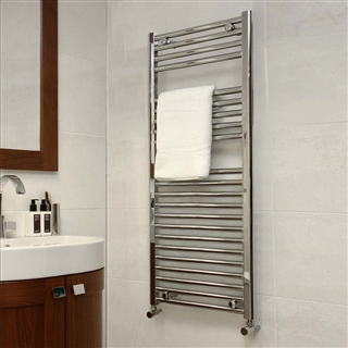 Straight Ladder Rail 300mm x 1200mm Chrome 25mm Bar