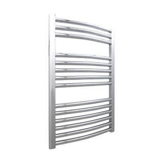 Curved Ladder Rail 500mm x 800mm Chrome 25mm Bar
