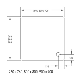 Low Profile Shower Tray 900mm x 900mm