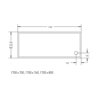 Low Profile Shower Tray 1700mm x 700mm