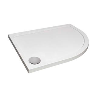 Low Profile Offset Quadrant Shower Tray 1000mm x 800mm Right Hand
