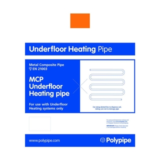 Polyplumb UFCH 16mm x 120m Coil MCP Underfloor Heating Pipe MCP12016B