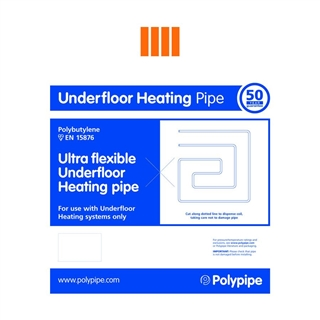 Polyplumb UFCH 12mm x 25m Coil Ultra Flexible Underfloor Heating Pipe UFH2512B