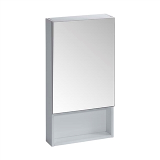 400 Single Door Cabinet White with Shelf IFU057