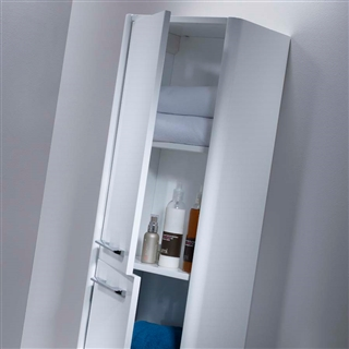 350 Wall Mounted Storage Column White IFU001