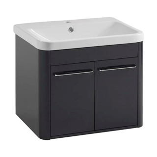 600 Wall Mounted 2 Door Basin Unit Anthracite IFU014
