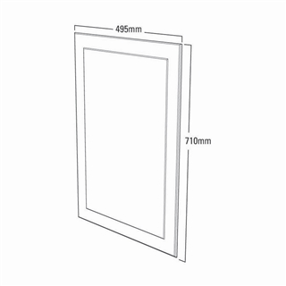 Plain Mirror with Frosted Border 495mm x 710mm