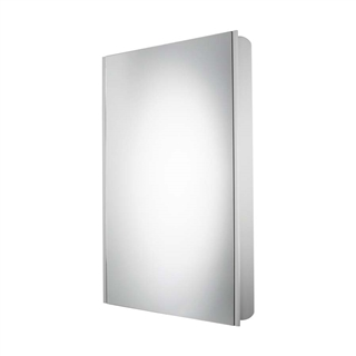 Slimline Single Door Aluminium Cabinet Gloss White 450mm x 700mm x 100mm