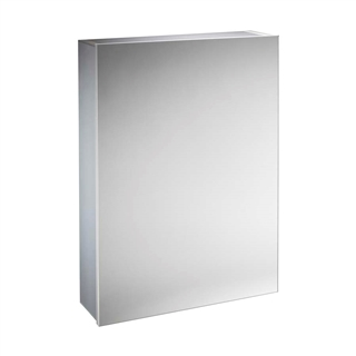 Single Door Aluminium Cabinet with Soft Close Door 440mm x 650mm x 130mm