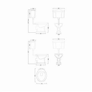 Low Level Toilet Cistern with Fittings (Exc Pipe) ITO018