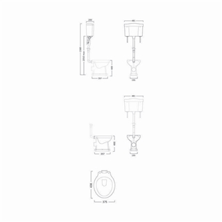 Chrome High Level Pipe and Bracket Kit ITO017
