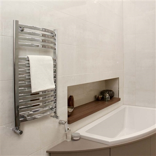 Vogue Curvee Radiator 500mm x 800mm Electric Only Chrome