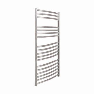 Vogue Kerve Radiator 600mm x 1200mm Electric Only Polished Stainless Steel