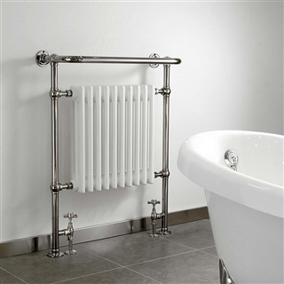 Vogue Regency Radiator 500mm x 945mm x 230mm Electric Only Chrome