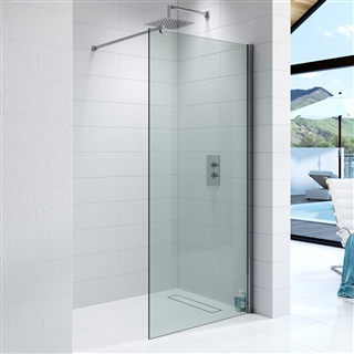 10mm Wetroom Glass Panel 800mm