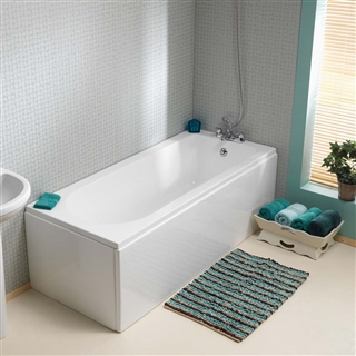 Pura Wave Single Ended Bath 1700mm x 700mm (No Taphole) with Leg Pack