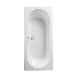 Pura Wave Double Ended Bath 1700mm x 750mm (No Taphole) with Leg Pack
