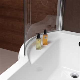 Pura Arco Right Hand P Shaped Shower Bath 1700mm with Leg Pack