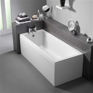 Pura Bloque Single Ended Bath 1700mm x 750mm (No Taphole) with Leg Pack
