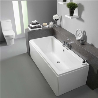 Pura Bloque Double Ended Bath 1800mm x 800mm (No Taphole) with Leg Pack