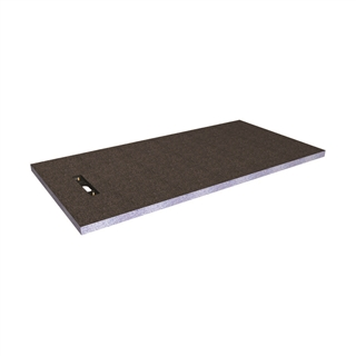 Abacus Elements Linear Shower Tray with End Drain 1800mm x 900mm