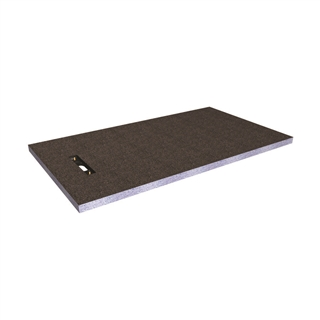 Abacus Elements Linear Level Access Shower Tray with End Drain 1600mm x 900mm